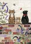 Cats on Wall - Blank Card Blank