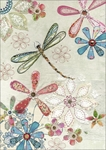 Floral Dragonfly - Blank Card Blank