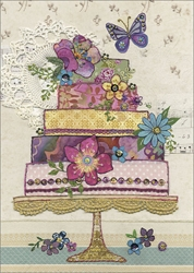 Flower Cake - Birthday Card