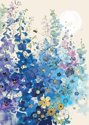 Delphiniums - Blank Card