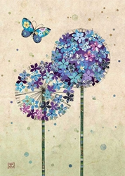 Butterfly Alliums - Blank Card