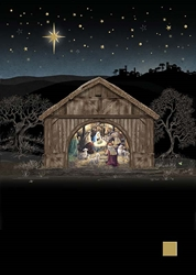 Nativity Scene - Christmas Card Christmas