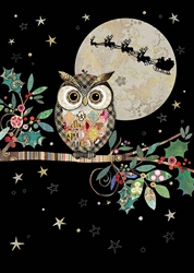 Christmas Owl - Christmas Card Christmas