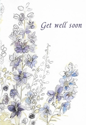1 EA PURPLE STALK GET WELL