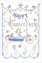 Bike for Two - Anniversary Card Anniversary
