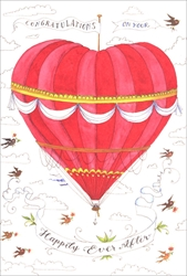 Happily Ever After Balloon - Wedding Card Wedding