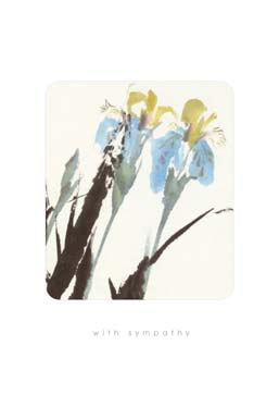 Blue / Yellow Flowers - Sympathy Card