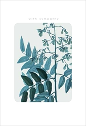 Green Leaves - Sympathy Cards
