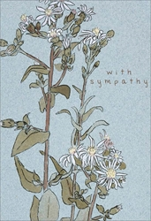 White Flowers - Sympathy Card