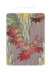 Red Leaves - Sympathy Card