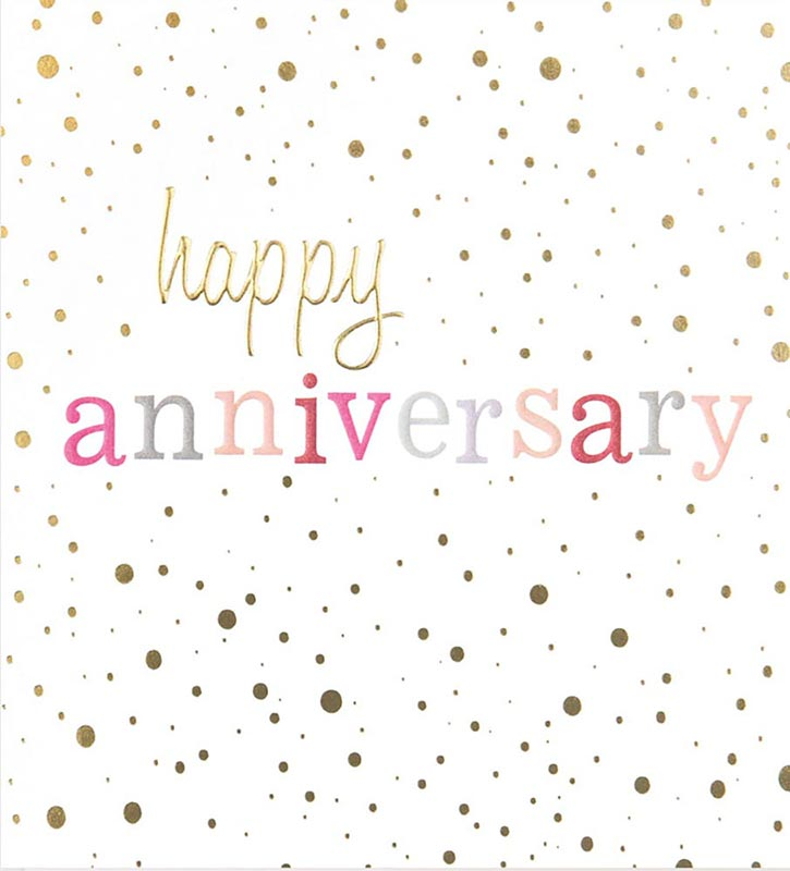 Confetti Text - Anniversary Card