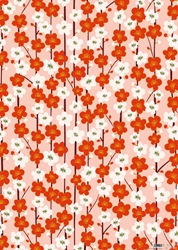 Red & White Flowers - Sheet Gift Wrap