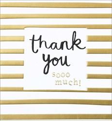 Gold Strip - Thank You Card