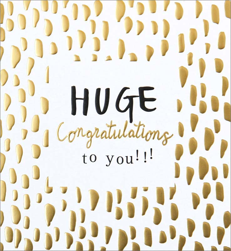 Gold Swatch Huge - Congratulations Card