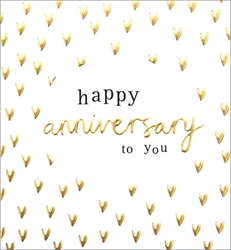 Gold Hearts - Anniversary Card Anniversary