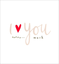 So Much - Love Card