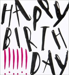 Black Text - Birthday Card
