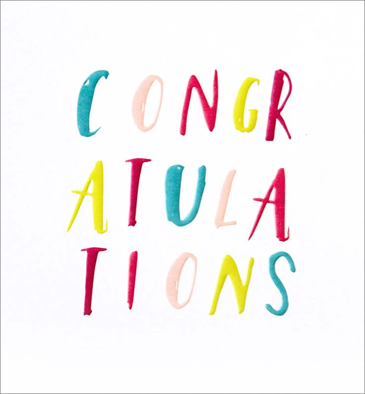 Colorful Text - Congratulations Card