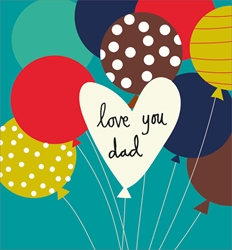 Dad Balloon - Fathers Day Cards