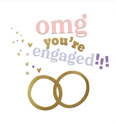 Rings OMG - Engagement Card