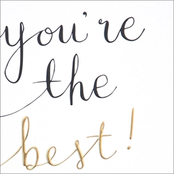 You Are Best - Congratulations Card