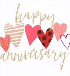 Hearts - Anniversary Card