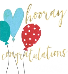 Balloons - Congratulations Card