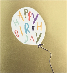 Balloon with Text - Birthday Card Birthday