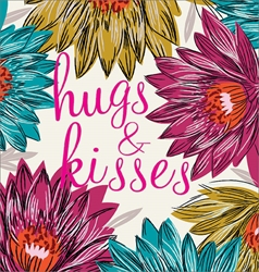 Hugs & Kiss - Love Card