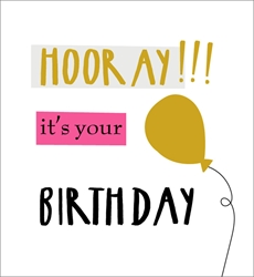 Hooray - Birthday Card