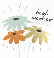 Flowers Wishes - Birthday Card