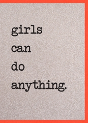 Girls Can Do - Friendship Card