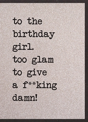 Glan Fuck - Birthday Card