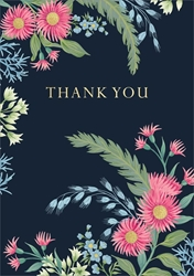 Pink & Blue Flowers - ThankYou Card