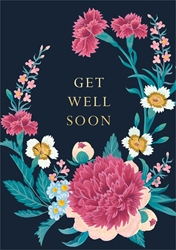 Pink & White Flowers - Get Well Card