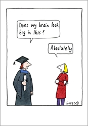 Big Brain - Graduation Card