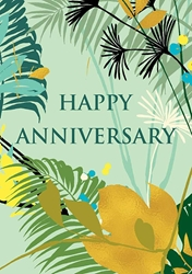 Flowers & Fronds - Anniversary Card