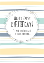 Not Forget - Birthday Card