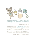New Parents Congratulations - Baby Card Baby