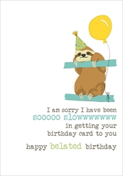 Sloth Belated - Birthday Cards