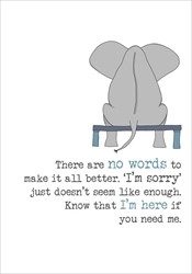 Elephant Sorry - Sympathy Card