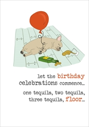 Tequila - Birthday Card