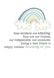 Amazing Animals - Sympathy Card