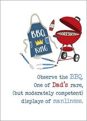 BBQ King - Fathers Day Card