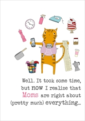Cat Mom - Mothers Day Card