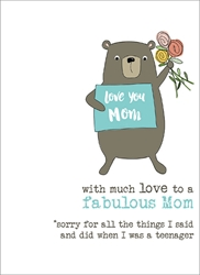 Bear Mom - Mothers Day Card