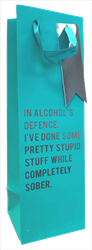 Blue Alcohol Bottle Bag
