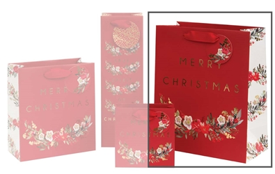 Christmas Flowers Large Bags Christmas