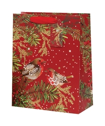 Christmas Robins Large Bag Christmas