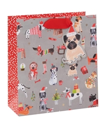 Christmas Pups Medium Bag Christmas